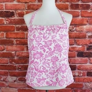 Land's End Pink Floral Halter Tankini Top 18